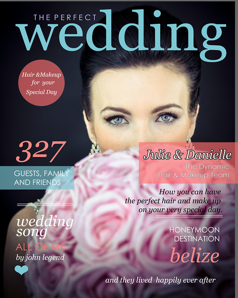 Julie and Danielle wedding Magazine