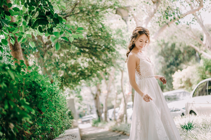 輕婚紗,禮服出租,波希米亞風白紗,婚攝大嘴攝影工作室,民生社區,新秘Ariesybaby團隊