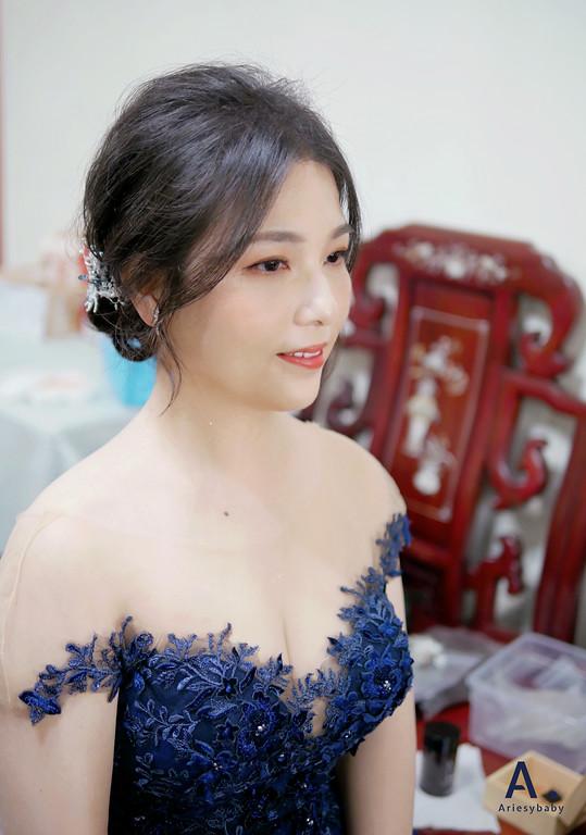 細軟髮新娘造型,台北新秘,清透妝感,文定造型,黑髮造型,新秘推薦