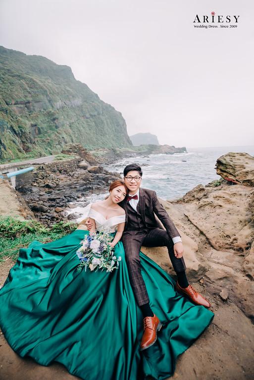 Ariesy造型團隊,婚攝大嘴,婚紗包套,禮服出租,典雅魚尾白紗,九分袖蕾絲白紗,緞面魚尾晚禮服