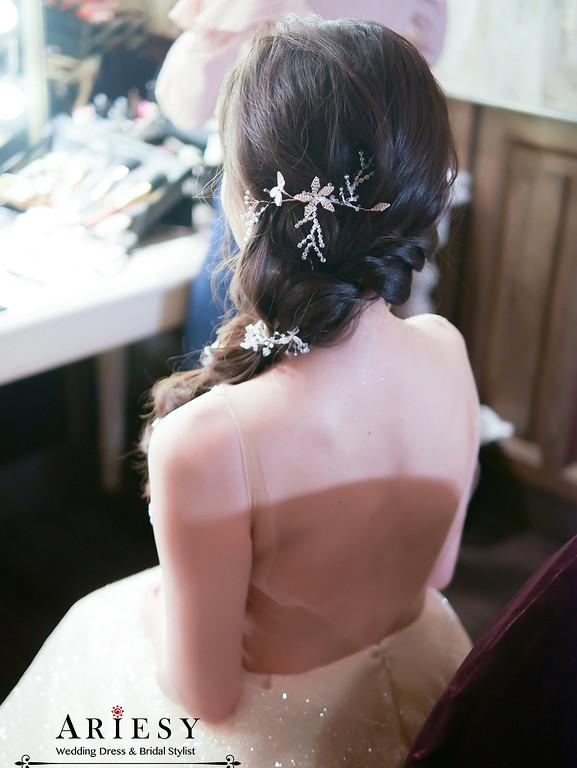 新娘秘書,新秘,君品酒店,美式新娘造型,跳舞禮服愛瑞思ariesy,新秘推薦