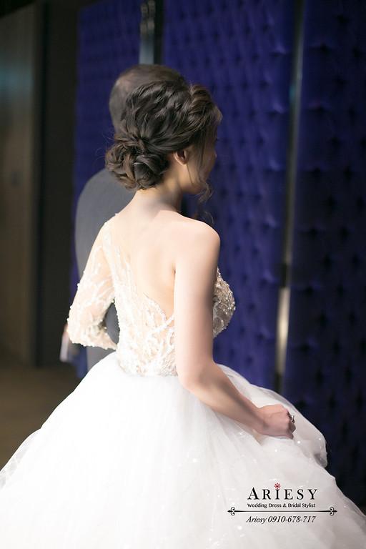 新娘秘書,新秘,君品酒店,美式新娘造型,愛瑞思ARIESY,白紗美式造型