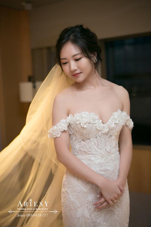 愛瑞思新娘秘書,ARIESY新秘,白紗造型,韓風新娘造型,台北新秘,遠企婚禮