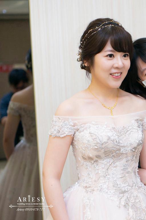 編髮新娘造型,愛瑞思,ARIESY,台北新秘,新娘秘書,白紗新娘髮型