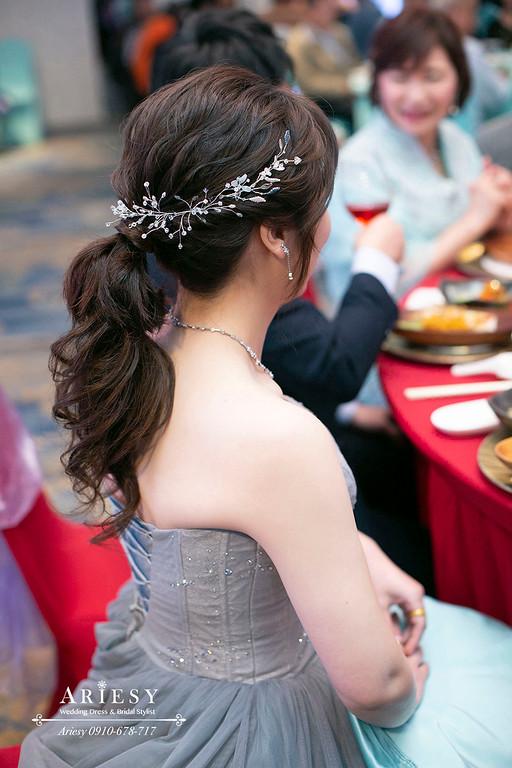 鮮花新娘造型,愛瑞思,ARIESY,台北新秘,新娘秘書,花藝造型