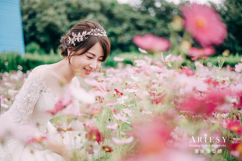 淡水莊園,自然風格,短髮新娘,清新風格