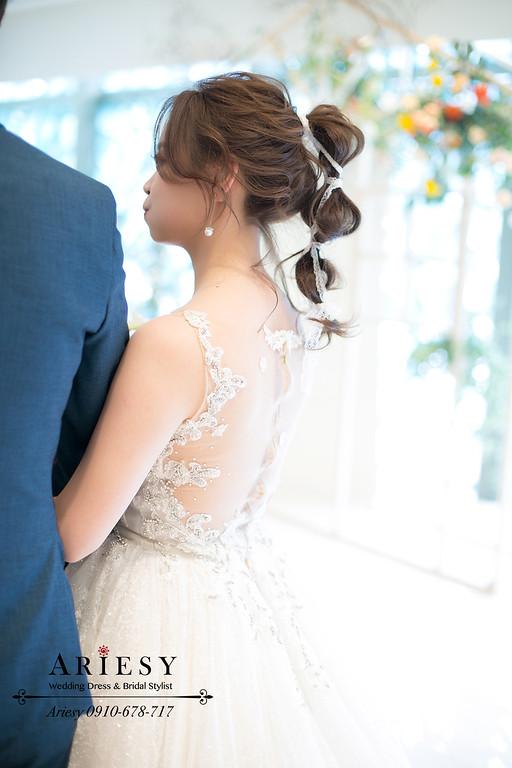 日系新娘白紗造型,結婚新秘,新娘秘書,愛瑞思,ARIESY,故宮晶華婚禮