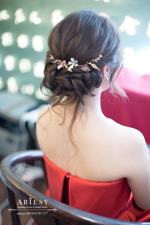文定新娘髮型,文定新秘,新娘秘書,愛瑞思,ARIESY,故宮晶華婚禮