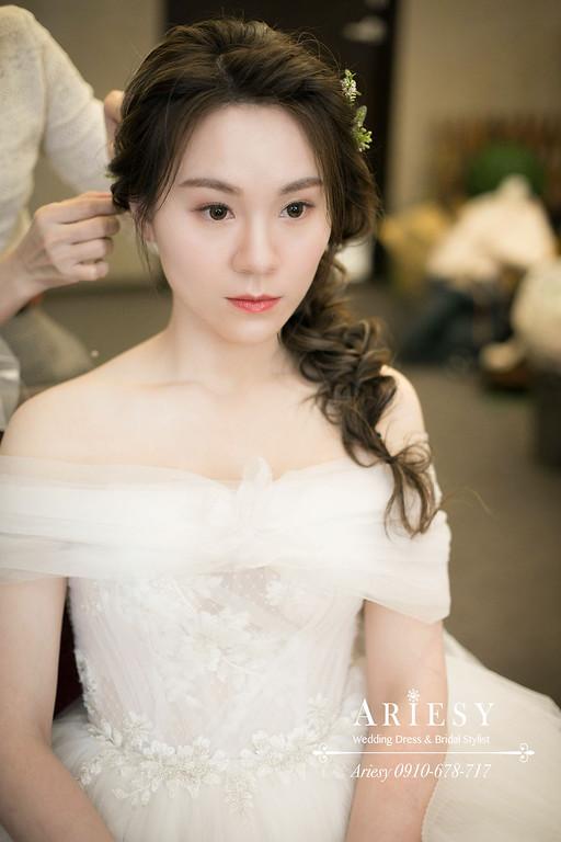 鮮花新秘,台北新秘,新娘秘書,ARIESY,愛瑞思,歐美新娘編髮髮型