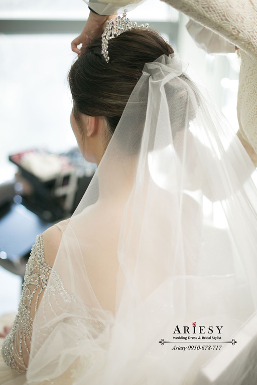 韓風新娘婚禮造型,台北新秘,新娘秘書,ARIESY,愛瑞思,皇冠新娘髮型