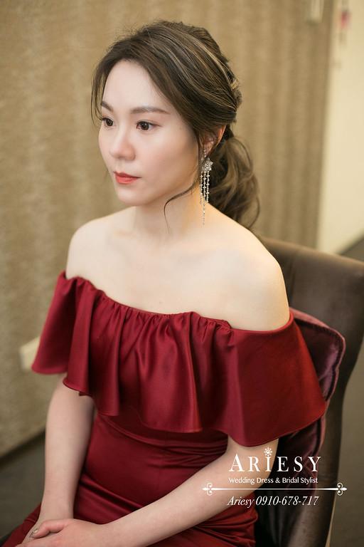 韓風新娘婚禮造型,台北新秘,新娘秘書,ARIESY,愛瑞思,歐美新娘編髮髮型