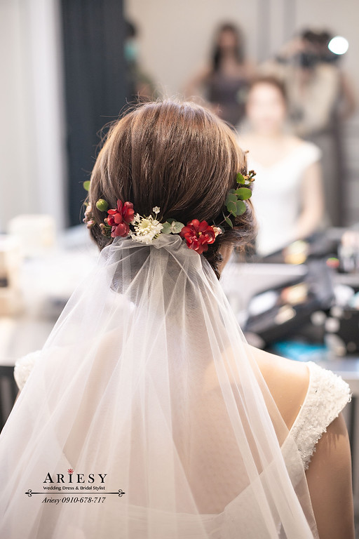北部新秘,新娘秘書,ARIESY,愛瑞思,韓系新娘造型,白紗新娘造型,八德彭園婚宴