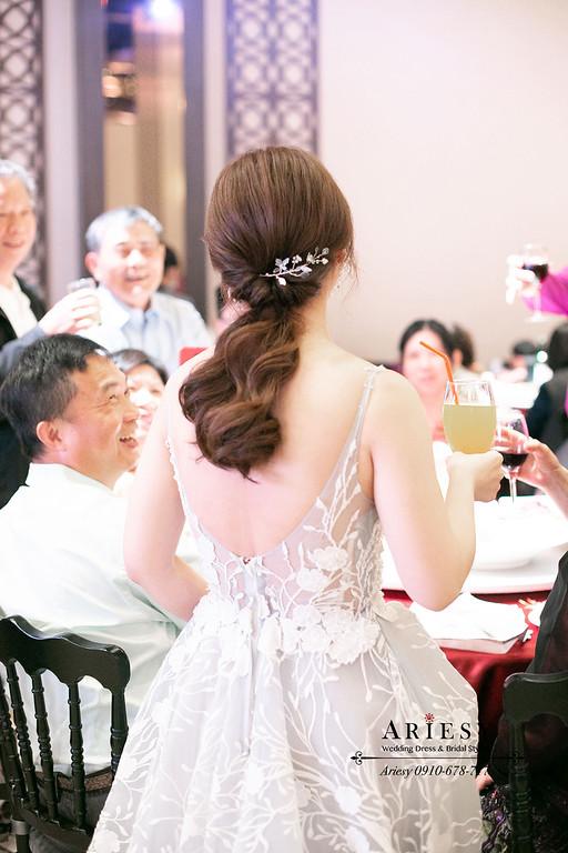 簡約新娘髮型,新娘敬酒造型,新娘秘書,ARIESY,愛瑞思,北部新秘
