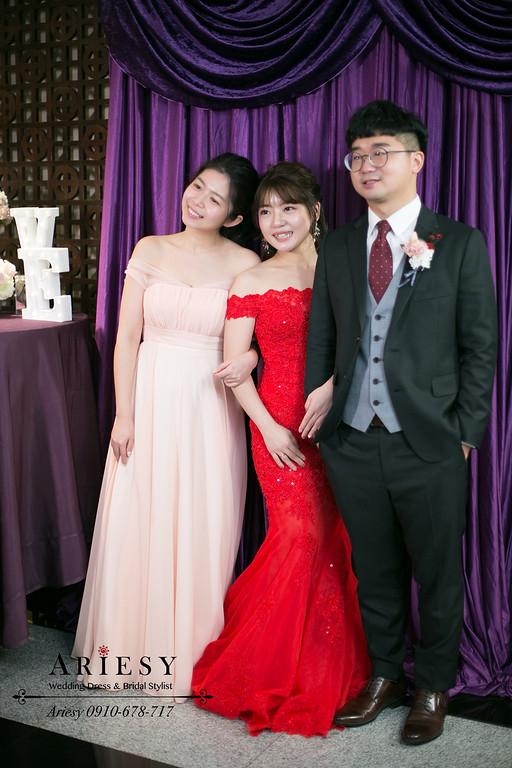新秘,新娘秘書,晶華酒店婚禮,編髮送客新娘髮型,愛瑞思,ARIESY婚紗禮服