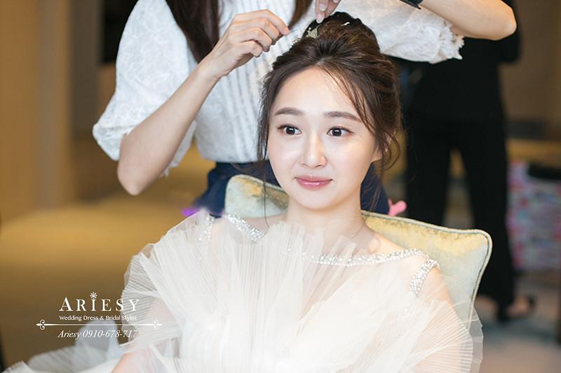 美福,新娘秘書,台北新秘ariesy,白紗韓系新娘髮型,韓風新娘造型,新娘造型,gucci口紅