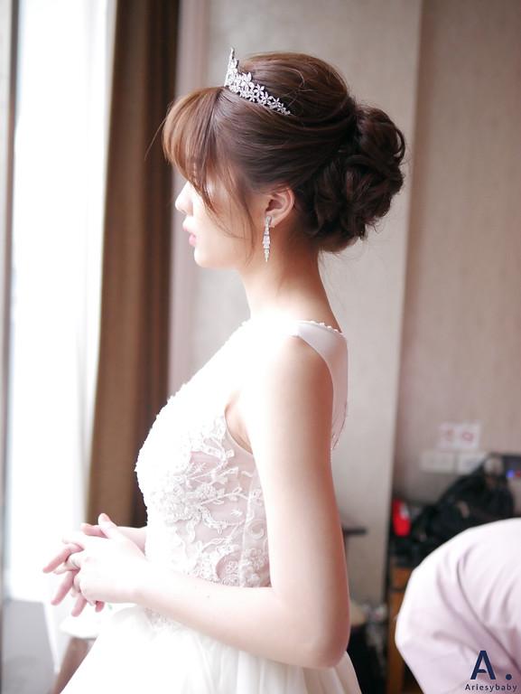 清透妝感,氣質新娘造型,編髮新娘造型,中盤髮,氣質編髮