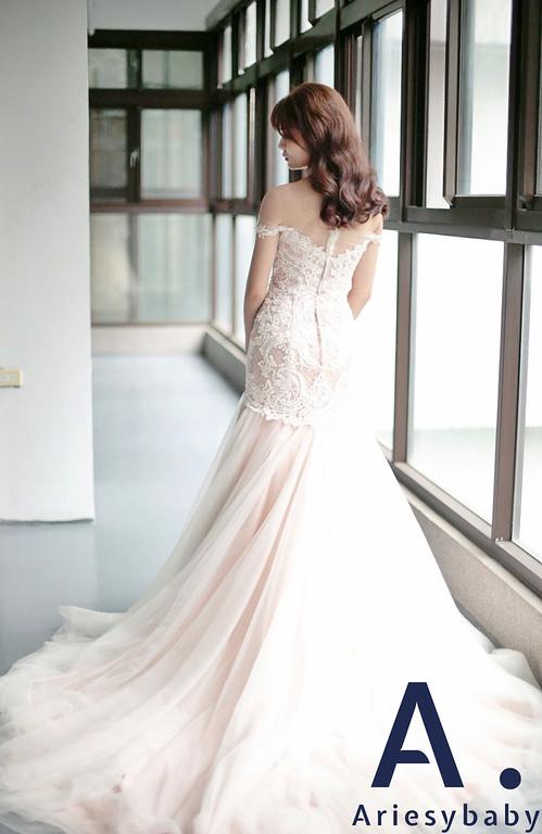 清透妝感,氣質新娘造型,韓系新娘,韓系放髮