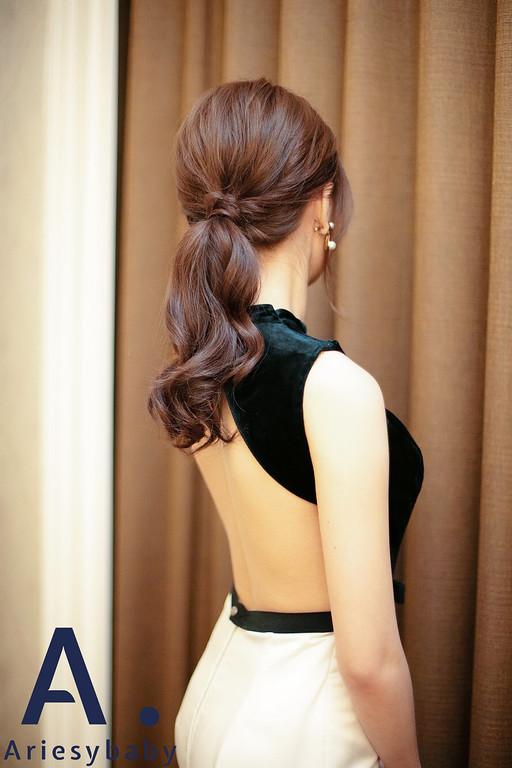 清透妝感,氣質新娘造型,韓系新娘,韓系低馬尾