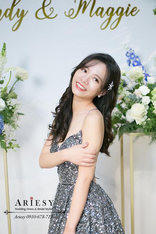 細軟髮新娘造型,高馬尾新娘造型,送客新娘髮型,愛瑞思,ARIESY,君悅婚宴