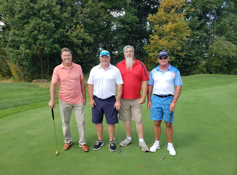Tournament champs, from left, Joe Gys of Lowell, and Ken Gys, Doug Collupy of Dracut and Mickey Gys, all of Dracut