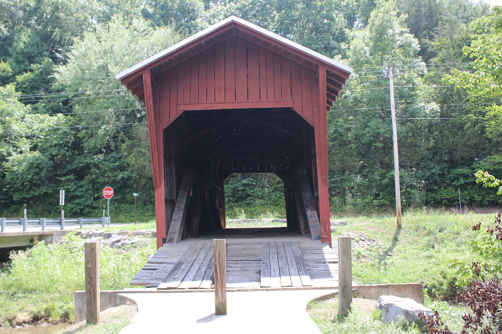 Front on Bible Covered Bridge