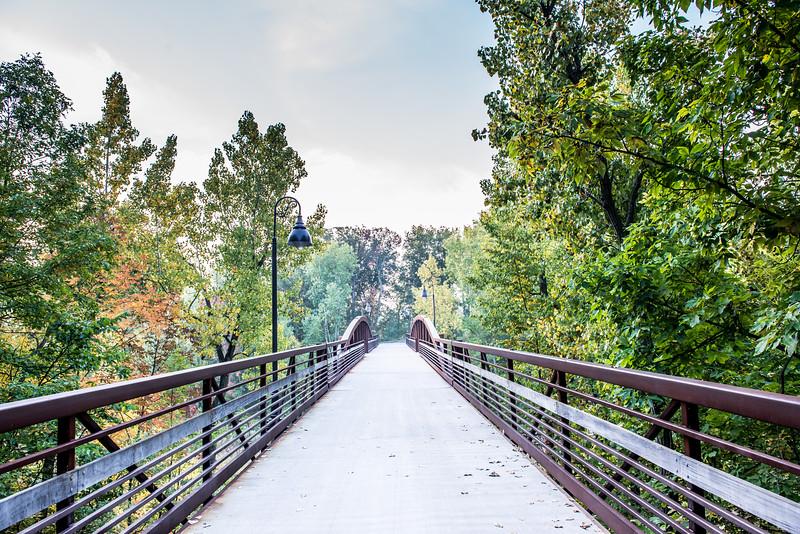 KM 966 - Fox Cities Trestle Trail Bridge in Fall