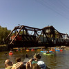 Railroad Bridge in Appleton between Lock # 3 and # 4 with Train