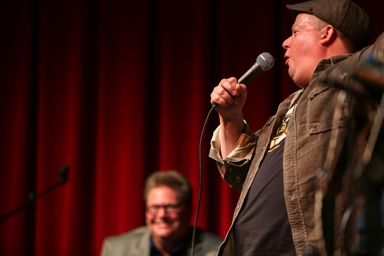 Representing Boston was Irish comedian Sean Lynch. <br /> Photo by John Fitts