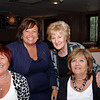 Michele Alexander, President of the Scottish Bridge Union, with Helena Cohen, Joyce Benson and Jean Arthur