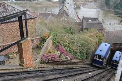 Bridgenorth Cliff Raiway View from Upper Station 1 Apr 14