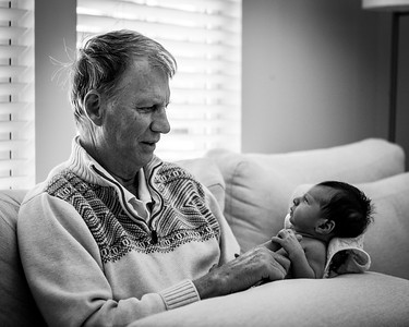 Grammy and Grandpas first meet. April 2021. Aldie, Virginia. Digital.