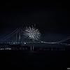 Verrazano–Narrows Bridge with Fireworks
