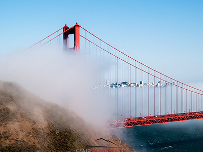 Golden Gate Bridge and fog #2