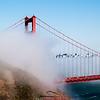 Golden Gate Bridge and fog #2