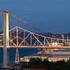 Carquinez Strait Bridge and new Alfred Zampa suspension bridge