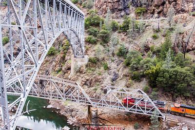 Pulga Crossing and Railroad Bridge, Feather River Canyon, CA