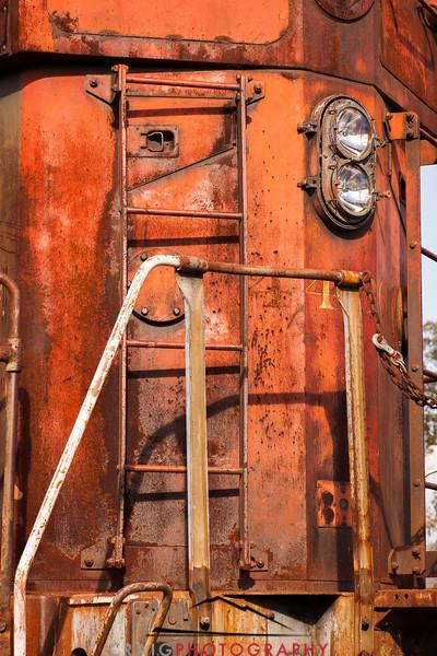 Railroad engine detail, Schellville, CA