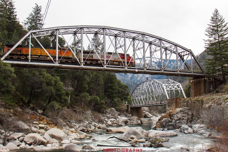 Tobin Crossing Railroad Bridge, Feather River Canyon, CA