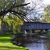 Covered Bridge By Cedarburg Wisconsin