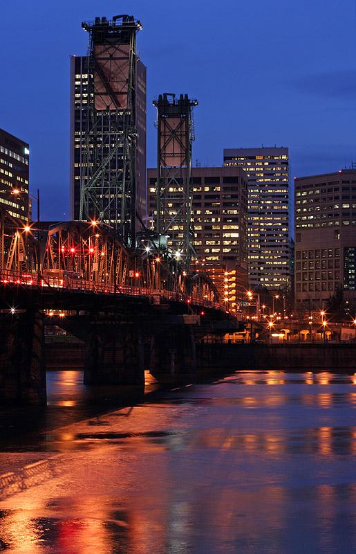SW Portland Riverfront Night
