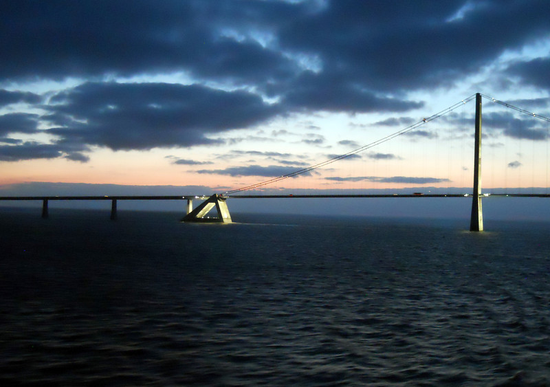 Storebaelt Bridge, Denmark, Baltic Sea