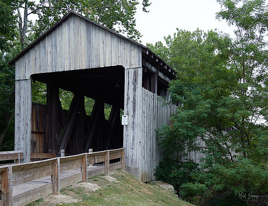 The Black (Pugh's Mill) Covered Bridge, Ohio - 1868-1869
