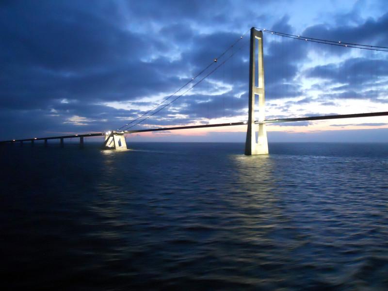 Storebaelt Bridge, Denmark, Baltic Sea