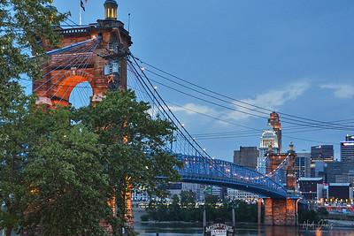 Covington (KY) & Cincinnati (OH) Suspension Bridge - 1856-1867