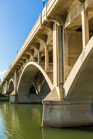 Arches of a Concrete Bridge