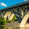 Arches of a Concrete Bridge