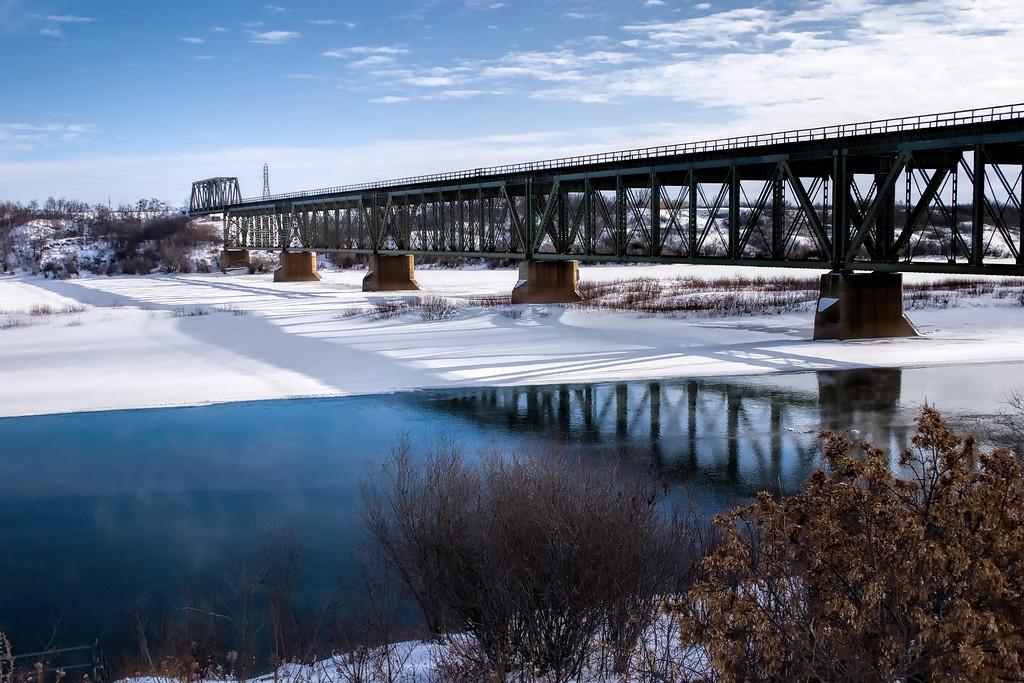 Train Bridge in Winter