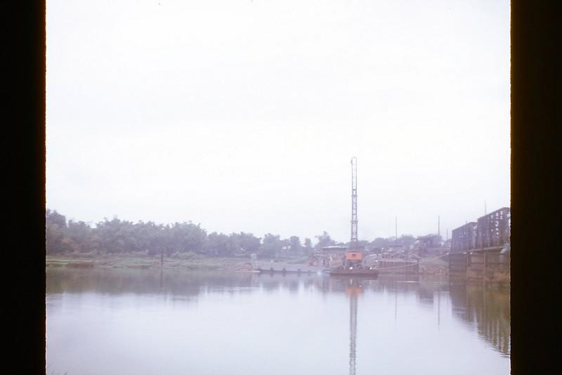 Constructing the 650' Cau Do Bridge south of Da Nang - Dec. '69