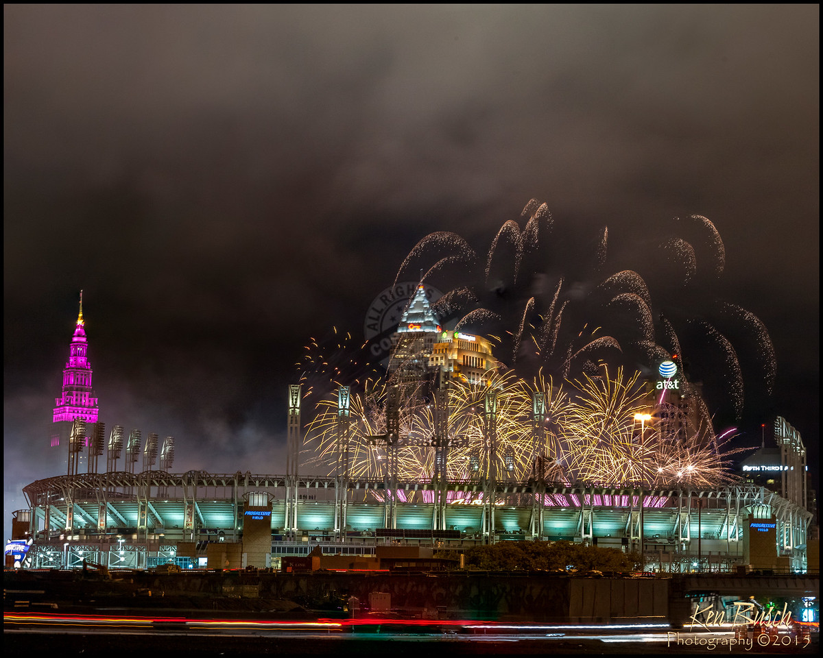 End of Season Fireworks at Jacobs Field in Cleveland Ohio