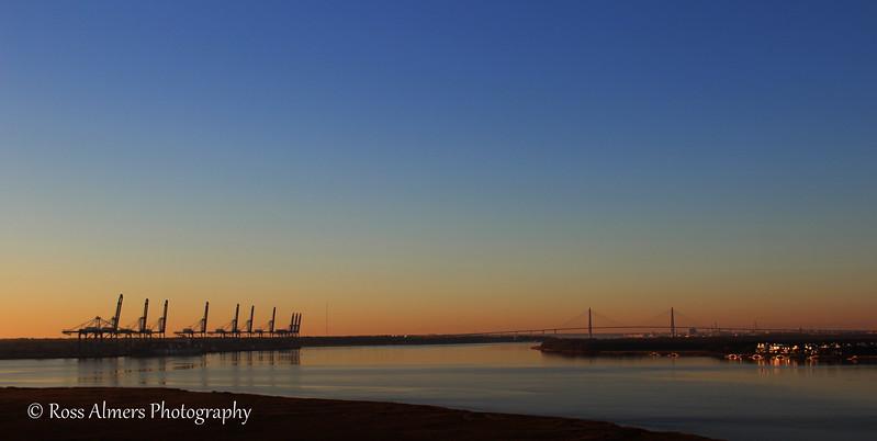 Sunrise with the Ravenel Bridge